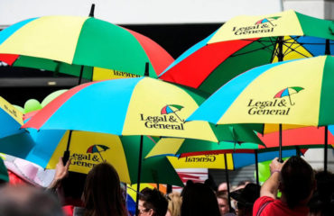 image of umbrellas with L&G logos